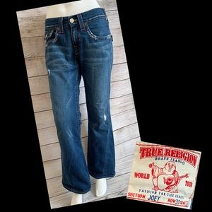 True Religion Flared Joey Distressed Jeans